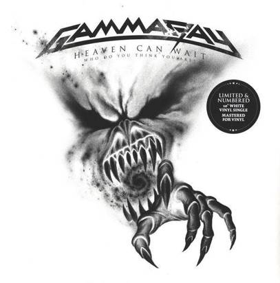 "Gamma Ray ""Heaven Can Wait Who Do You Think You Are White LP RSD"""