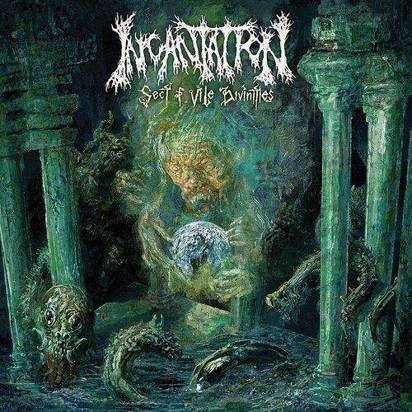 "Incantation ""Sect of Vile Divinities LP GREEN"""