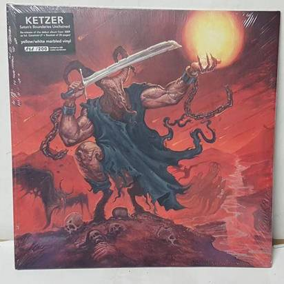 "Ketzer ""Satan's Boundaries Yellow White LP"""