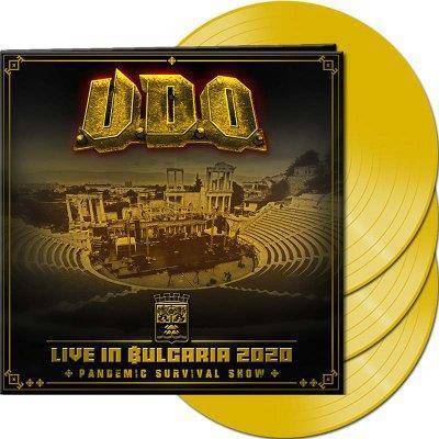 "U.D.O. ""Live in Bulgaria 2020 Pandemic Survival Show LP YELLOW"""